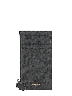 Givenchy-zip leather wallet