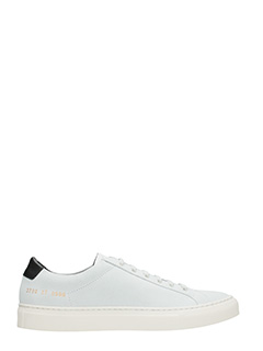 Common Projects-Sneakers basse Achilles Retro in suede bianco nero