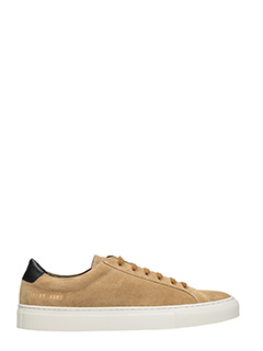 Common Projects-Sneakers basse Achilles Retro in suede cuoio