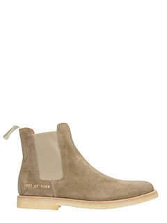 Common Projects-Tronchetti Chelsea  in suede taupe