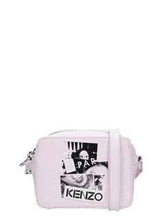 Kenzo-Mirrored Camera rose-pink patent leather bag