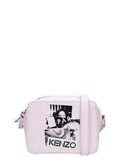 Kenzo-Borsa Antonio Lopez Mini Camera in vernice rosa