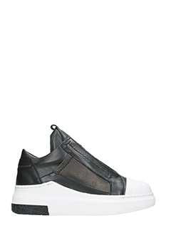 Cinzia Araia-Sneakers basse slip on in pelle nera