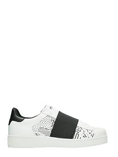 MOA-Sneakers Basse Slip On M521 in pelle bianca