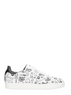 MOA-Sneakers Basse Tennis M570 in pelle bianca