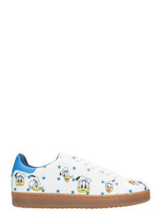 MOA-Sneakers Basse MD48 Donald Duck in pelle bianca