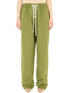 Puma Fenty-Pantaloni Front Lacing in cotone verde