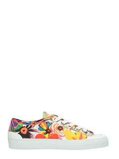 PORTS 1961-Sneakers Basse in tela multicolor stampa floreale