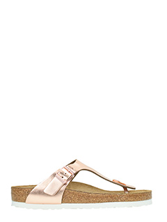 Birkenstock-Ginzeh sfb rose-pink leather flats