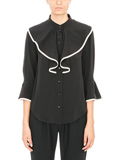 Chloé-black silk shirt