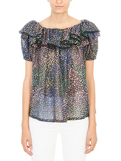 Chlo�-Blusa in seta multicolor