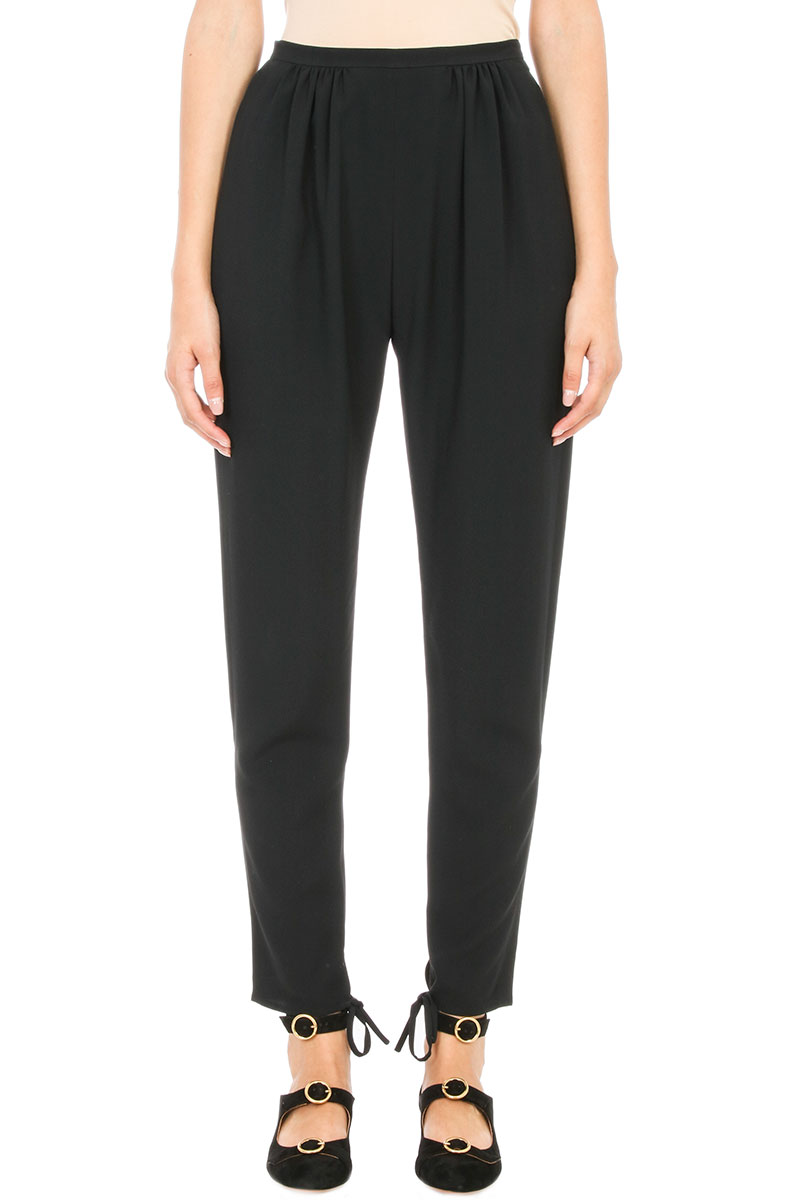 Chloé BLACK SILK PANTS