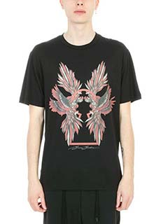 Bruno Bordese-T-shirt Berry in cotone nero