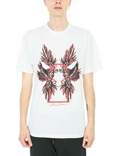 Bruno Bordese-T-shirt Berry in cotone bianco