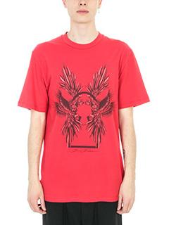 Bruno Bordese-T-shirt Berry in cotone rosso