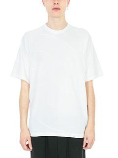 Bruno Bordese-T-shirt Driver in cotone bianco