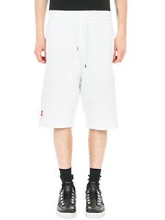 Bruno Bordese-Shorts Buzek in cotone bianco