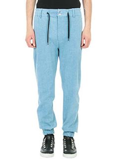 Bruno Bordese-Pantalone Grant in denim blu
