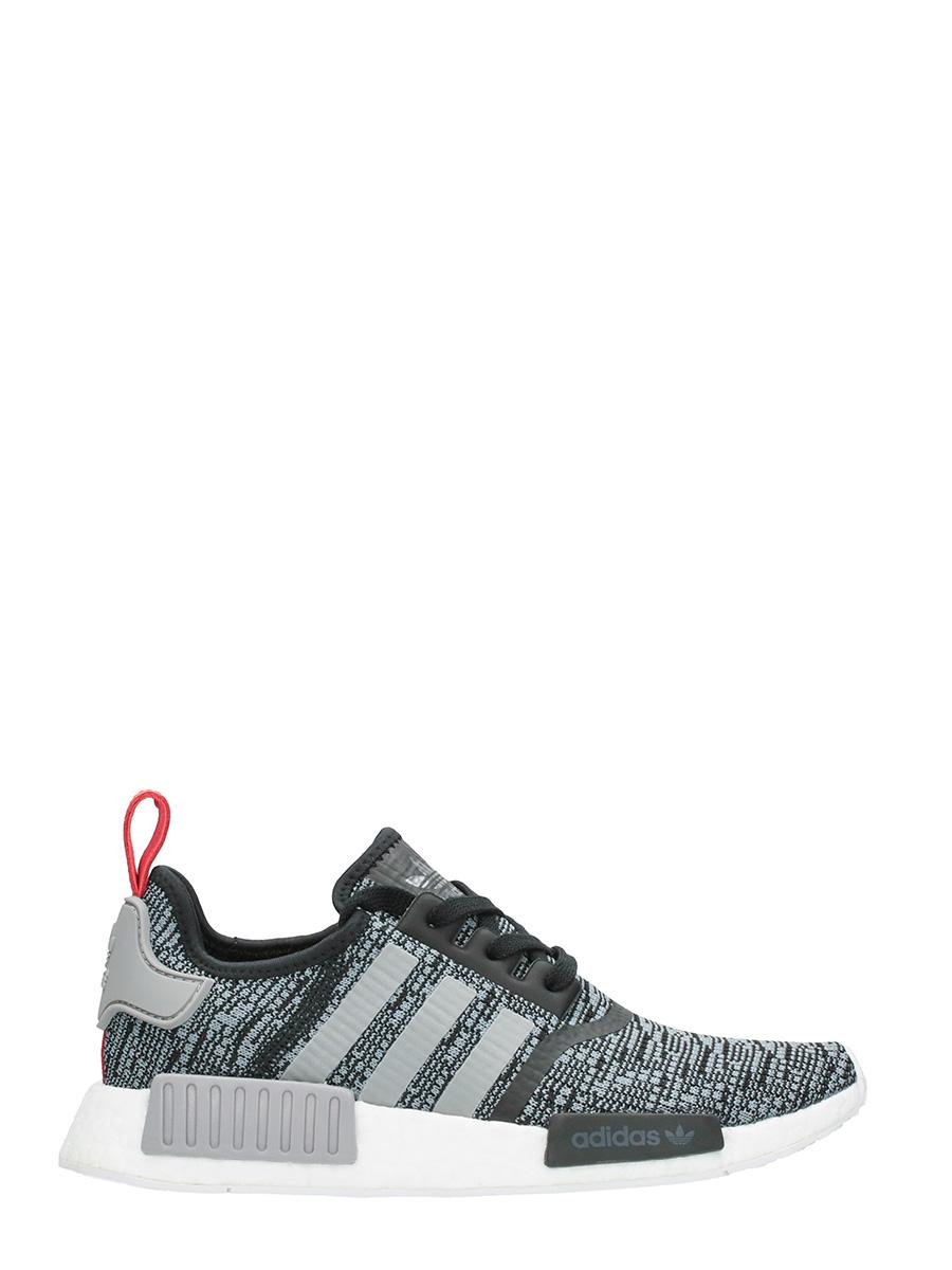 Adidas SNEAKERS NMD R1 IN TESSUTO TECNICO GRIGIO/NERO