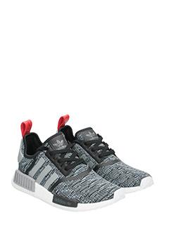 Adidas SNEAKERS NMD R1 IN TESSUTO TECNICO GRIGIO/NERO 2