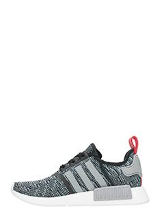 Adidas SNEAKERS NMD R1 IN TESSUTO TECNICO GRIGIO/NERO 3