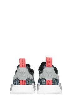 Adidas SNEAKERS NMD R1 IN TESSUTO TECNICO GRIGIO/NERO 4