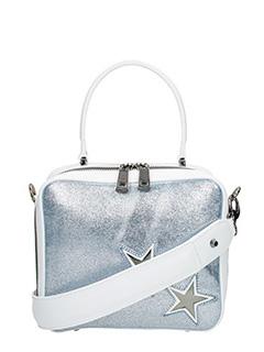 Marc Ellis-Borsa Star in pelle bianca argento