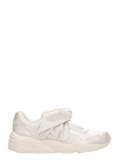 Puma Fenty-Sneakers Bow in satin e gomma beige