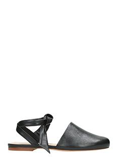 Alexandre Birman-Couros black leather flats