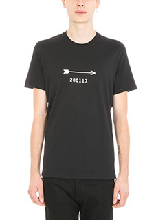 Givenchy-T-Shirt Arrow 200117 in cotone nero