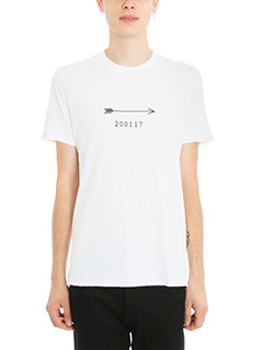 Givenchy-T-Shirt Arrow 200117 in cotone bianco