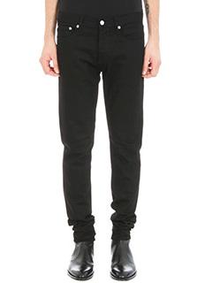 Givenchy-Patch black cotton jeans