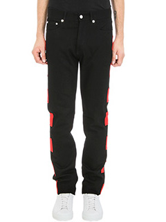 Givenchy-Patch-detail Straight Mid-Rise black jeans