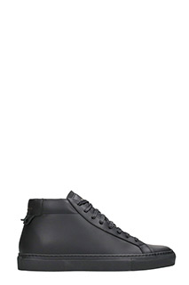 Givenchy-Sneakers Urban Knot Mid in pelle nera