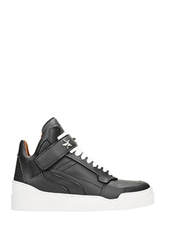 Givenchy-Sneakers Tyson in pelle nera