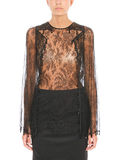 Givenchy-Blusa in pizzo nero
