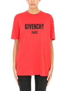 Givenchy-Distressed logo print Over T-shirt