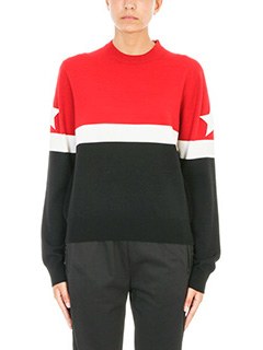 Givenchy-Maglia a righe in lana rossa nera