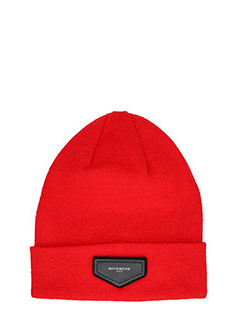 Givenchy-Cappello Beanie in lana rossa