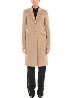 Givenchy-Cappotto in lana e cashmere beige