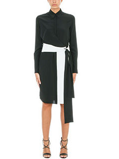 Givenchy-Black and White Silk dress