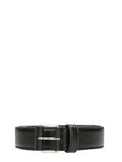 Givenchy-Cintura Logo in pelle nera