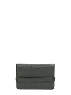Common Projects-Portafogli Accordion in pelle nera
