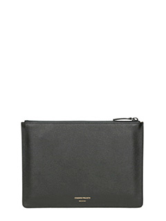 Common Projects-Pochette Small in pelle nera