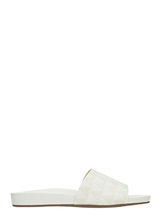 Schutz-Slide in pelle bianca
