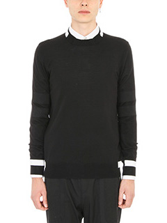 Givenchy-Block trim knitted jumper