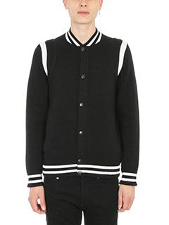 Givenchy-Black Varsity wool Jacket
