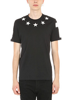Givenchy-T-Shirt Star in cotone nero
