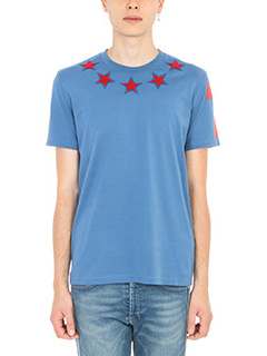 Givenchy-T-Shirt Star in cotone blue