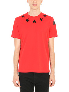 Givenchy-T-Shirt Star in cotone rosso